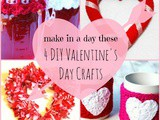 4 diy Valentine's Day Crafts