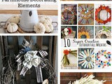 5 Autumn diy Decor Projects + Funtastic Friday 141 Link Party