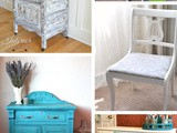 5 diy Furniture Makeovers + Funtastic Friday 140 Link Party