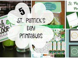 5 St. Patrick's Day Printables + Funtastic Friday 117 Link Party
