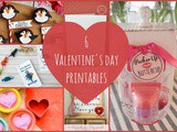 6 Valentine's Day Printables + Funtastic Friday 113 Link Party