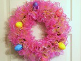 Easter Decorative Mesh Wreath – Dollar Store Craft Challenge