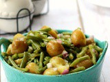 Green Beans in Potato Salad