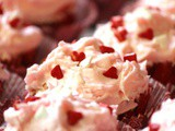 Strawberry Poke Valentine Cupcakes