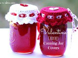 Valentine Crochet Canning Jar Covers