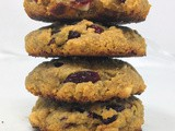 Vegan Cranberry White Chocolate Chip Cookies