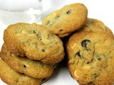 White and Dark Chocolate Chip Cookies