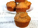 Whole Wheat Reduced Sugar Banana Nut Muffins