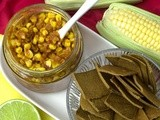 Chilli-Lime Corn Relish + Curried Red Lentil Crackers