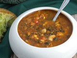 Recipe Redux: (Make-and-Freeze) Roasted Capsicum Soup with Kale, Barley & White Beans