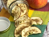 Vanilla Spice Dehydrated Apple Chips