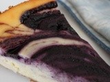 Blueberry Swirl Sour Cream Cheesecake