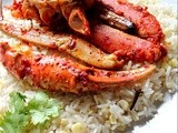 Baked Crab Legs with Corn Fried Rice