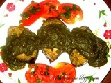 Goan style Baked fish - with green masala