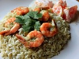Kolambi Bhaat/ Prawn Rice with Orange Raita