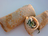 Buckwheat crepes with ricotta and spinach