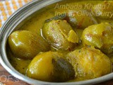 Ambada/Ambeda Khatta ( Tangy Indian Olives Curry )