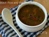 Black Rice And Pumpkin Soup ( My experiments with Ambila )