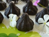 Black Rice Modak ( Sijha Manda gets a Makeover )