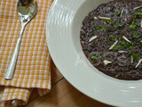 Black Rice Risotto ( Comfort food takes a Vegan turn )