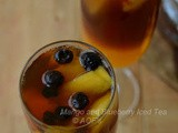 Blueberry and Mango Iced Tea