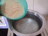 Fuel Efficient Method of Cooking Rice In Open Pan