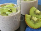 Kiwi and Black Rice Phirni ( An exotic rice pudding )