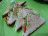 Mayonnaise and Veggie Sandwich