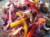 Noodles, Red Cabbage & Peppers Coleslaw