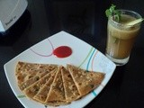 Pudina Paratha (Mint leaves Indian bread )