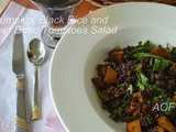 Pumpkin, Black Rice and Sun Dried Tomatoes Salad ( Christmas Special Colab )