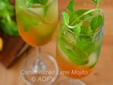 Salted Caramelized Lime Mojitos