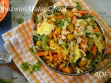 Schezwan Matar Chaat ( a Crazy Indo-Chinese Fusion experiment )
