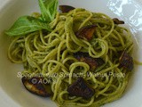 Spaghetti with Walnut-Spinach Pesto