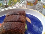 Vegan Ginger and Jaggery Cake ( Whole Wheat Version )