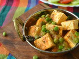 Zero Oil Matar Paneer ( a Women's Day Special )