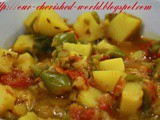 Alu - Shimla Mirch Subzi / Potato - Capsicum Curry for ccc
