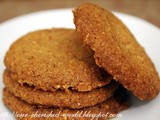 Eggless Almond Ginger Cookies