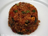 Mixed Vegetables Schezwan Fried Rice