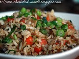 Vegetable Fried Rice - an Indo-Chinese Recipe