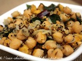 White Chickpea Sundal - a quick snack