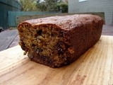 Banana-chocolate chip-cranberry sauce cake