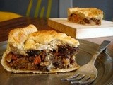 Beer-braised vegetable pie