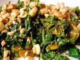 Broccoli rabe with ginger, apricots & cashews