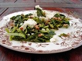 Broccoli rabe with lemons, pecans and french feta