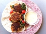 Butternut ricotta kofta with pistachio-pumpkinseed sauce