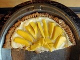 Champagne mango tart (with cardamom pastry cream and ginger-shortbread)