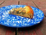 Chard, raisin, and pine nut tart with chickpea flour crust
