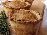 Chard & raisin tarts with almond topping