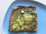 Chervil pesto pizza (with mashed potatoes)